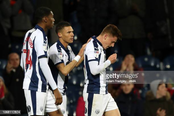 Harvey Barnes of West Bromwich Albion celebrates after scoring a goal to make it 10 during the Sky Bet Championship match between West Bromwich...