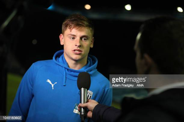 Harvey Barnes of West Bromwich Albion during the post match TV / Television Interviews during the Sky Bet Championship match between Sheffield...
