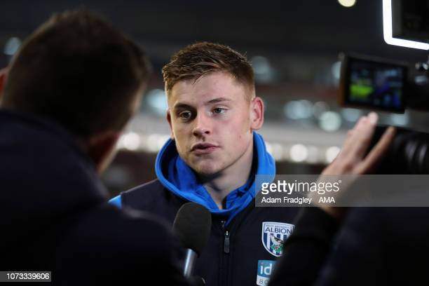 Harvey Barnes of West Bromwich Albion during the post match TV / Television interviews during the Sky Bet Championship match between Sheffield United...