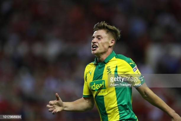 Harvey Barnes of West Bromwich Albion during the Sky Bet Championship match between Nottingham Forest v West Bromwich Albion at City Ground on August...