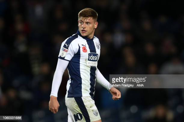 Harvey Barnes of West Bromwich Albion during the Sky Bet Championship match between West Bromwich Albion and Leeds United at The Hawthorns on...