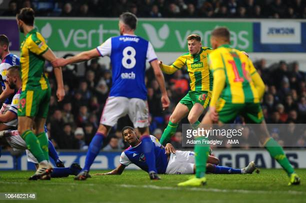 Harvey Barnes of West Bromwich Albion scores a goal to make it 02 during to the Sky Bet Championship match between Ipswich Town and West Bromwich...