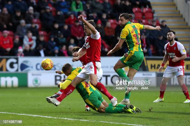Harvey Barnes of West Bromwich Albion scores a goal to make it 03 during the Sky Bet Championship match between Rotherham United and West Bromwich...