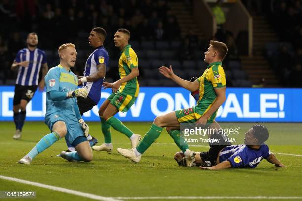 Harvey Barnes of West Bromwich Albion scores a goal to make it 12 during the Sky Bet Championship match between Sheffield Wednesday and West Bromwich...