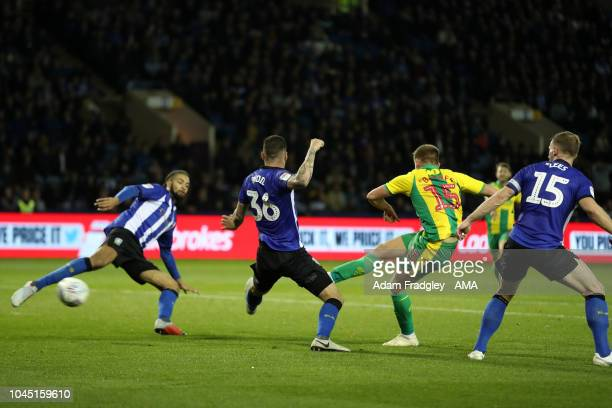 Harvey Barnes of West Bromwich Albion scores a goal to make it 22 during the Sky Bet Championship match between Sheffield Wednesday and West Bromwich...