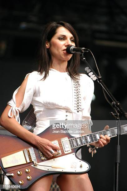 PJ Harvey during Rock on Scene Festival 2003 PJ Harvey in Concert at St Cloud National Forest in Paris France