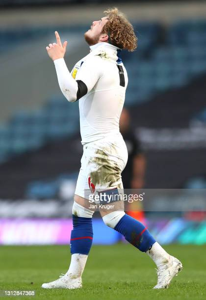 Harvey Elliott of Blackburn Rovers celebrates scoring the second goal during the Sky Bet Championship match between Blackburn Rovers and Derby County...