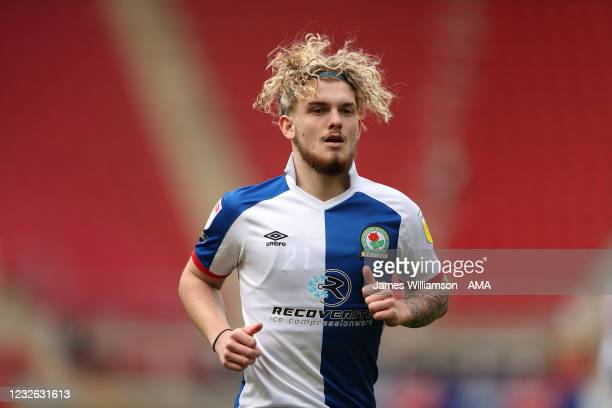 Harvey Elliott of Blackburn Rovers during the Sky Bet Championship match between Rotherham United and Blackburn Rovers at AESSEAL New York Stadium on...