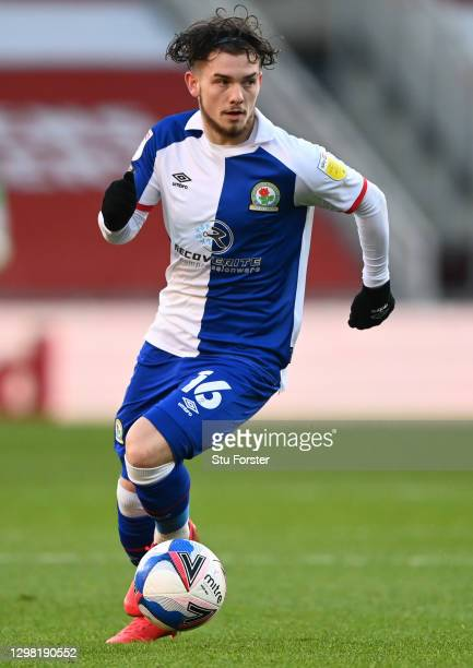 Harvey Elliott of Blackburn Rovers in action during the Sky Bet Championship match between Middlesbrough and Blackburn Rovers at Riverside Stadium on...