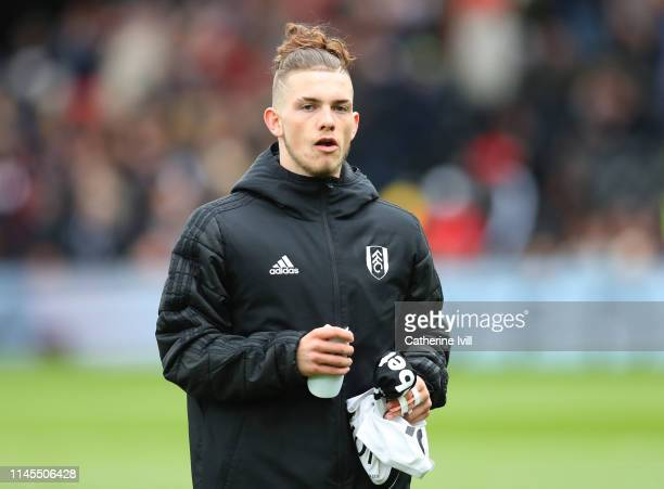 Harvey Elliott of Fulham before the Premier League match between Fulham FC and Cardiff City at Craven Cottage on April 27 2019 in London United...