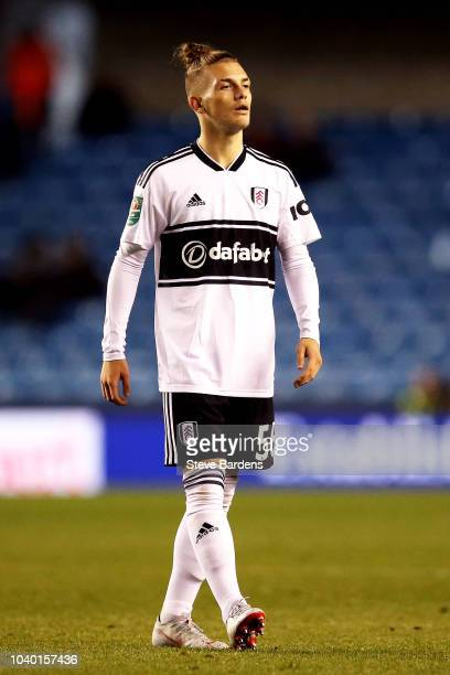 Harvey Elliott of Fulham looks on during the Carabao Cup Third Round match between Millwall and Fulham at The Den on September 25 2018 in London...