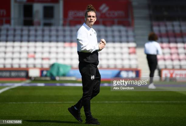 Harvey Elliott of Fulham looks on prior to the Premier League match between AFC Bournemouth and Fulham FC at Vitality Stadium on April 20 2019 in...