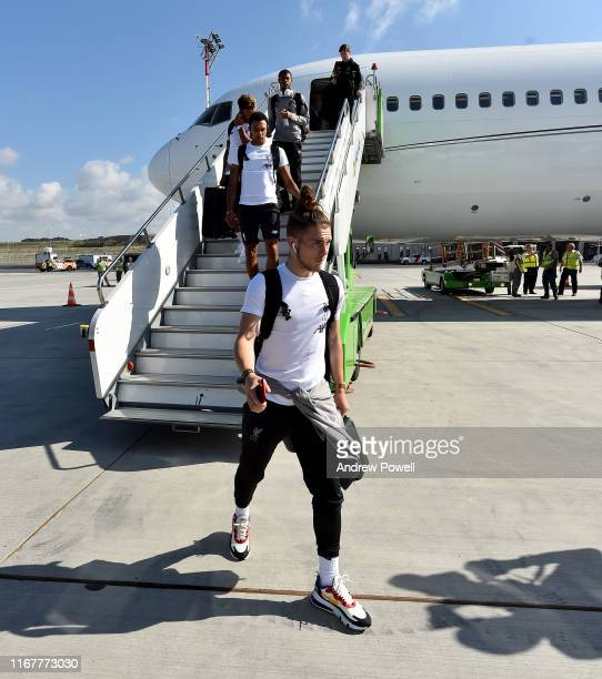 Harvey Elliott of Liverpool arriving from Liverpool prior the UEFA Super Cup on August 13 2019 in Istanbul Turkey