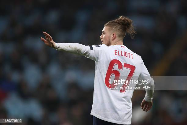 Harvey Elliott of Liverpool during the Carabao Cup Quarter Final match between Aston Villa and Liverpool FC at Villa Park on December 17 2019 in...