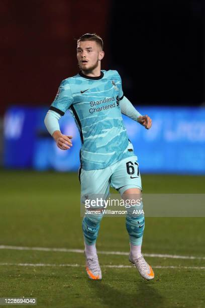 Harvey Elliott of Liverpool during the Carabao Cup Third Round match between Lincoln City and Liverpool at Sincil Bank Stadium on September 24 2020...