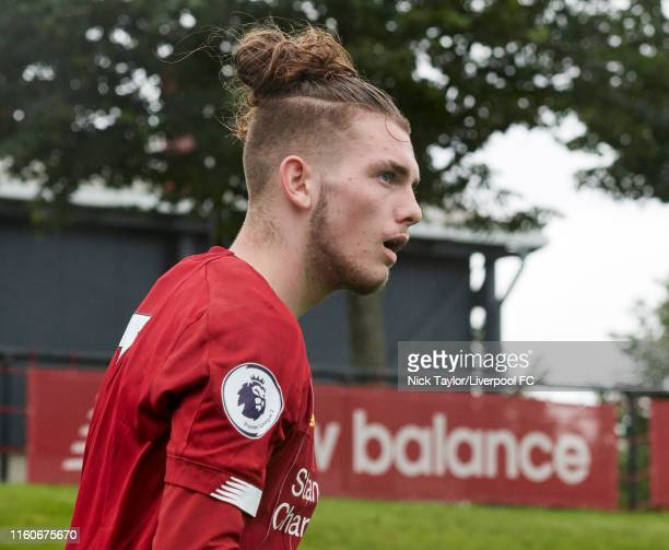 Harvey Elliott of Liverpool during the PL2 game at The Kirkby Academy on August 10 2019 in Kirkby England