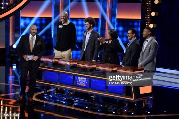 FEUD 'Harvey Family Men vs Harvey Family Women and Kareem AbdulJabbar vs Ralph Sampson' The celebrity teams competing to win cash for their charities...