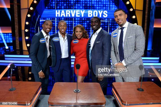 FEUD Harvey Family Men vs Harvey Family Women and Kareem AbdulJabbar vs Ralph Sampson The celebrity teams competing to win cash for their charities...