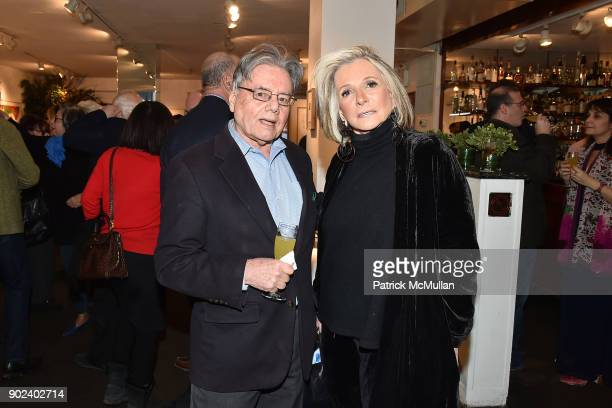 Harvey Feuerstein and Sheila Nevins attend Joan Kron's 90th Birthday 'Take My NosePlease' Release Party at Michael's on January 7 2018 in New York...