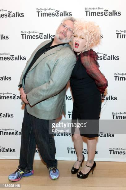 Harvey Fierstein and Cyndi Lauper attend TimesTalks Presents 'Creative Collaboration Harvey Fierstein Cyndi Lauper' at TheTimesCenter on March 18...