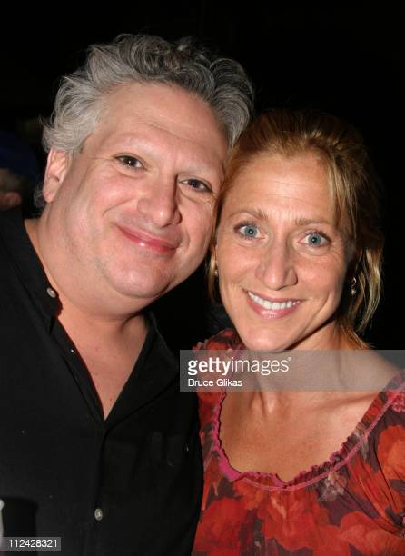 Harvey Fierstein and Edie Falco during Broadway Barks 5 in Shubert Alley at Shubert Alley in New York City New York United States