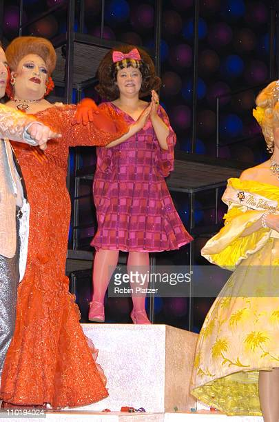 """Harvey Fierstein and Kathy Brier during Final Broadway Performance of Harvey Fierstein and Kathy Brier in """"Hairspray"""" at The Neil Simon Theatre in..."""
