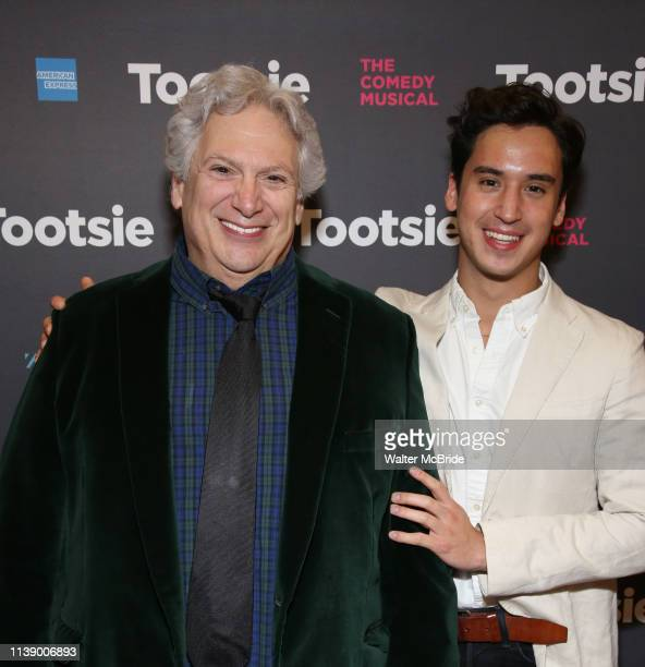 Harvey Fierstein and Michael Rosen attend the Broadway Opening Night of 'Tootsie' at The Marquis Theatre on April 22 2019 in New York City