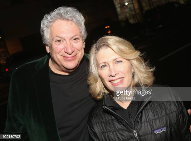 Harvey Fierstein and Second Stage Producer Carole Rothman pose as Playwright Harvey Fierstein carries 'the torch' from the Second Stage Tony Kiser...