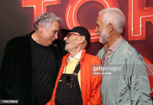 Harvey Fierstein Larry Kramer and David Webster attend the Broadway Opening Night of Torch Song at the Hayes Theater on Noveber 1 2018 in New York...