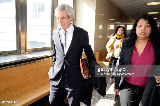 Harvey Fishbein and Alice Fontier the defense lawyers for Pedro Hernandez leaves court after his client was found guilty in Manhattan Supreme Court...