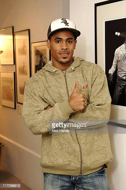 Harvey from So Solid during Henri Zimand and His Charity Anda's Spirit Sponsor Michael Jackson Art Exhibition at Proud Gallery in London Great Britain