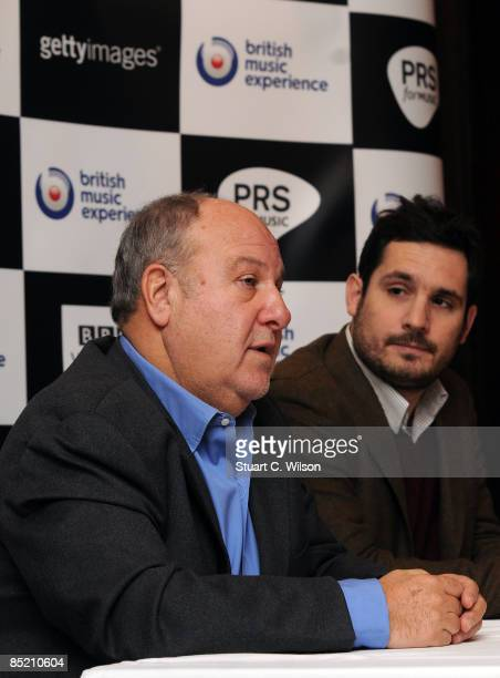 Harvey Goldsmith and Paul Lilly attend a press conference to launch the British Music Experience Exhibition at the O2 Arena on March 04 2009 in...