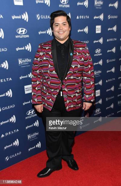 Harvey Guillen attends the 30th Annual GLAAD Media Awards Los Angeles at The Beverly Hilton Hotel on March 28 2019 in Beverly Hills California