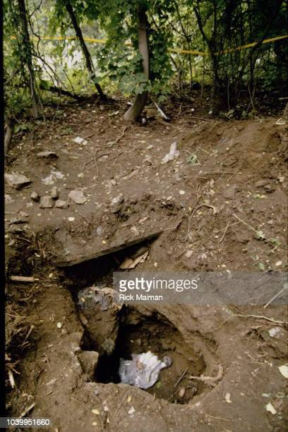 Harvey J Weinstein CEO of Lord West Formal Wear a tuxedo manufacturing has been kidnapped buried alive 12 days in this pit near the Hudson River in...