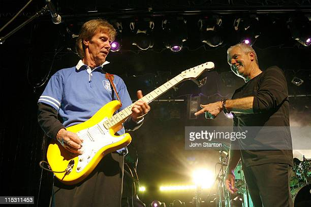 Harvey James and Daryl Braithwaite during Sherbet Perform in Concert August 25 2006 at South Sydney Juniors Club Sydney in Sydney NSW Australia