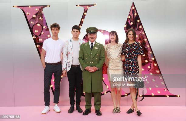 Harvey James Matt Richardson the Harrods Green Man Sam Rollinson and Charlotte Wiggins attend the Summer Party at the VA in partnership with Harrods...