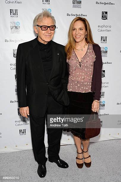 Harvey Keitel and Daphna Kastner attend the 25th annual Gotham Independent Film Awards at Cipriani Wall Street on November 30 2015 in New York City