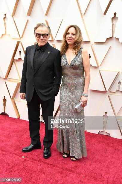 Harvey Keitel and Daphna Kastner attend the 92nd Annual Academy Awards at Hollywood and Highland on February 09, 2020 in Hollywood, California.