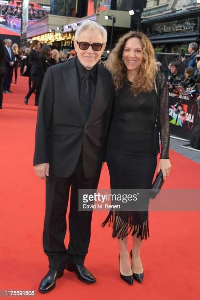 Harvey Keitel and Daphna Kastner attend the International Premiere and Closing Night Gala screening of NETFLIX's The Irishman during the 63rd BFI...