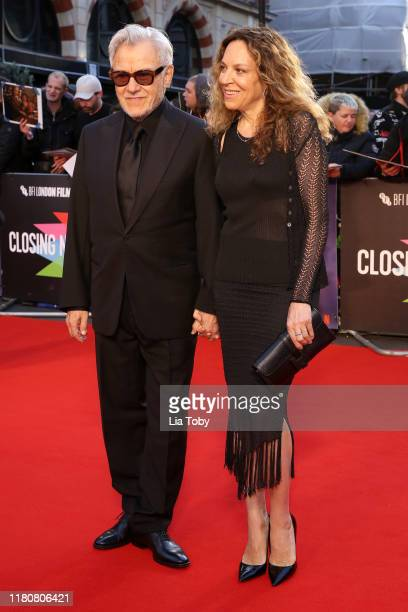 Harvey Keitel and Daphna Kastner attend The Irishman International Premiere and Closing Gala during the 63rd BFI London Film Festival at the Odeon...