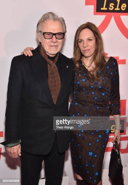 Harvey Keitel and Daphna Kastner attend the Isle Of Dogs New York Screening at The Metropolitan Museum of Art on March 20 2018 in New York City