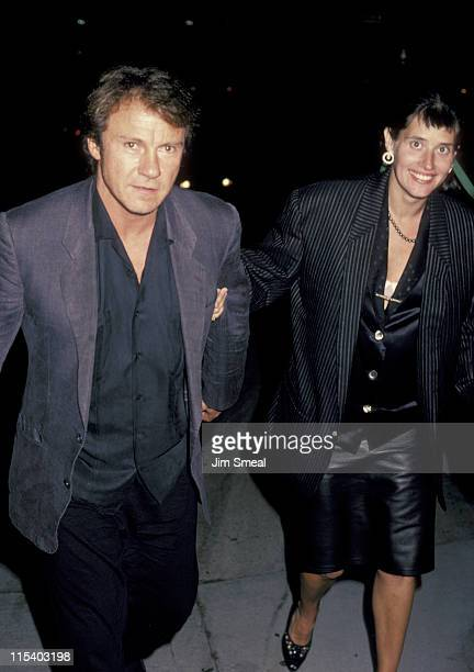 Harvey Keitel and Lorraine Bracco during Harvey Keitel and Lorraine Bracco Sighting at Spago's Restaurant in Hollywood September 27 1985 at Spago's...
