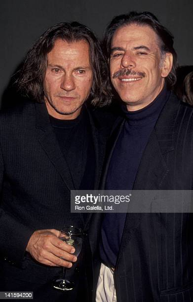 Harvey Keitel and Peter Max attend Celebrity Auction Benefiting Actor's Studio on September 20 1993 at Christie's in New York City