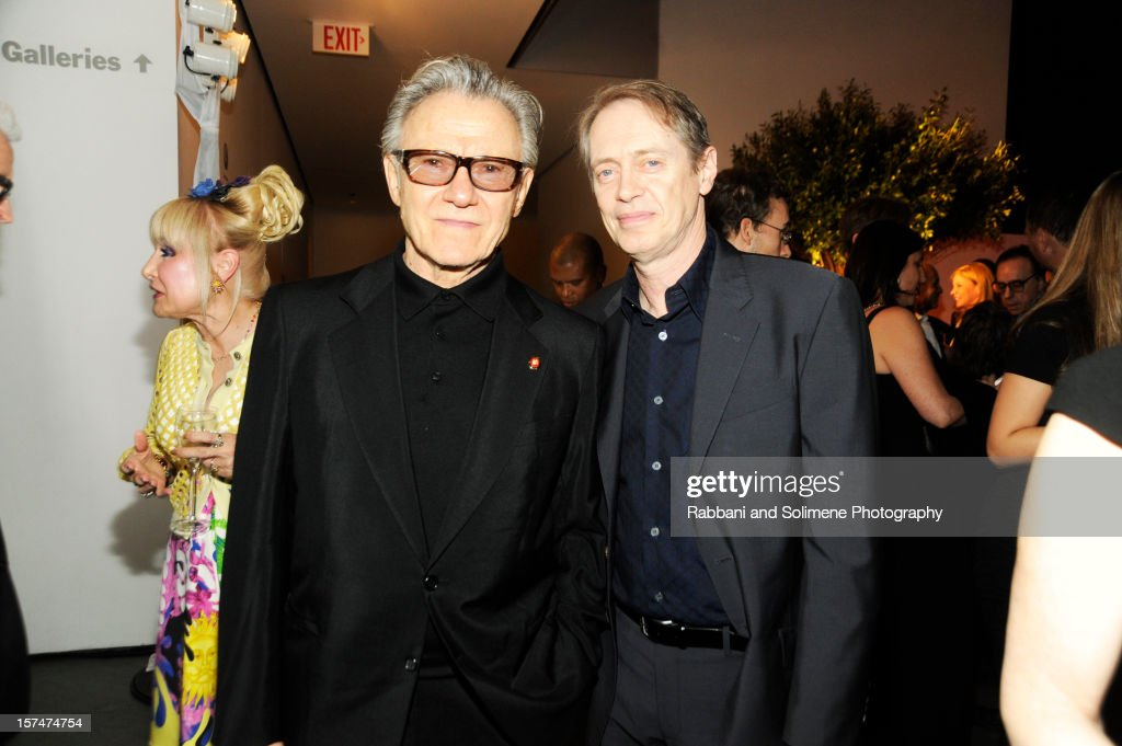 Harvey Keitel and Steve Buscemi attends The Museum of Modern Art 5th annual Film Benefit honoring Quentin Tarantino at MOMA on December 3, 2012 in New York City.