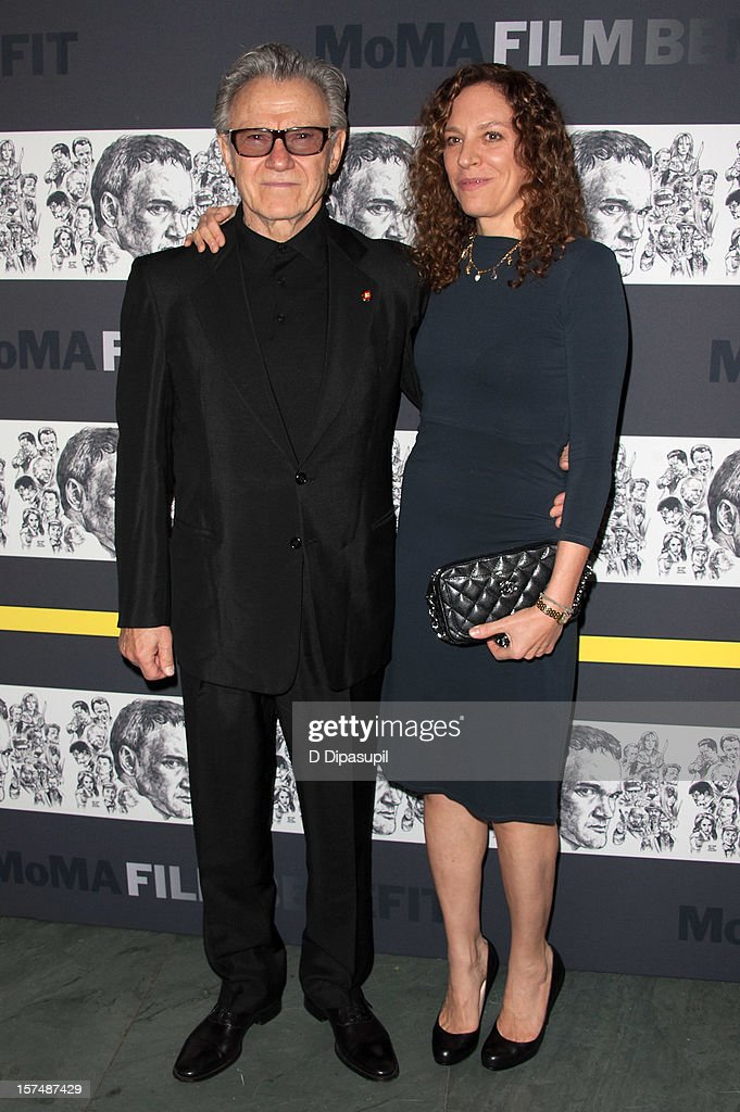 Harvey Keitel (L) and wife Daphna Kastner attend the Museum of Modern Art film benefit honoring Quentin Tarantino on December 3, 2012 in New York City.