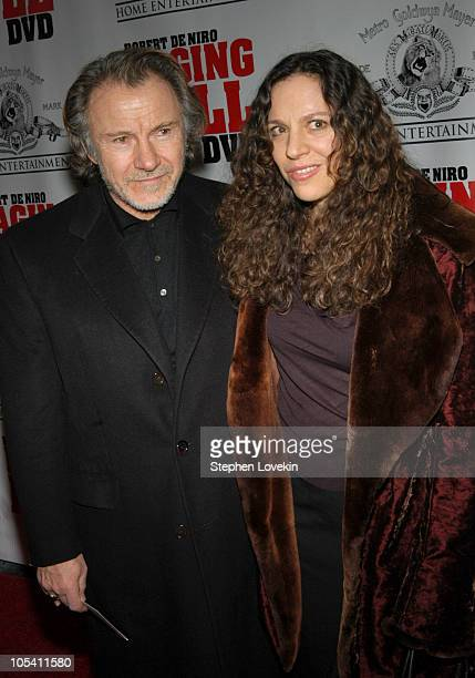 """Harvey Keitel and wife Daphna Kastner during """"Raging Bull"""" 25th Anniversary and Collector's Edition DVD Release Celebration at Ziegfeld Theatre in..."""
