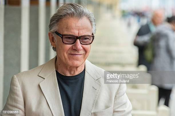 Harvey Keitel attends an homage ceremony at Promenade des planches during the 38th Deauville American Film Festival on September 1, 2012 in...