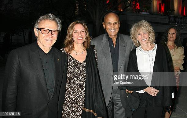 Harvey Keitel Daphna Kastner Harry Belafonte and Pamela Belafonte attend the Vanity Fair party during the 10th annual Tribeca Film Festival at State...
