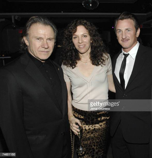 Harvey Keitel Daphna Keitel and Sean Penn at the Duvet in New York City New York