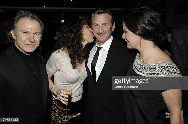 Harvey Keitel Daphna Keitel Sean Penn and Marcia Gay Harden at the Duvet in New York City New York